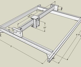 """3 Axis CNC Router - 60""""x60""""x5"""" - JunkBot"""