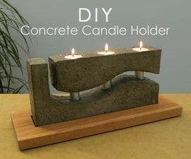 DIY Concrete Tea Light Candle Holder