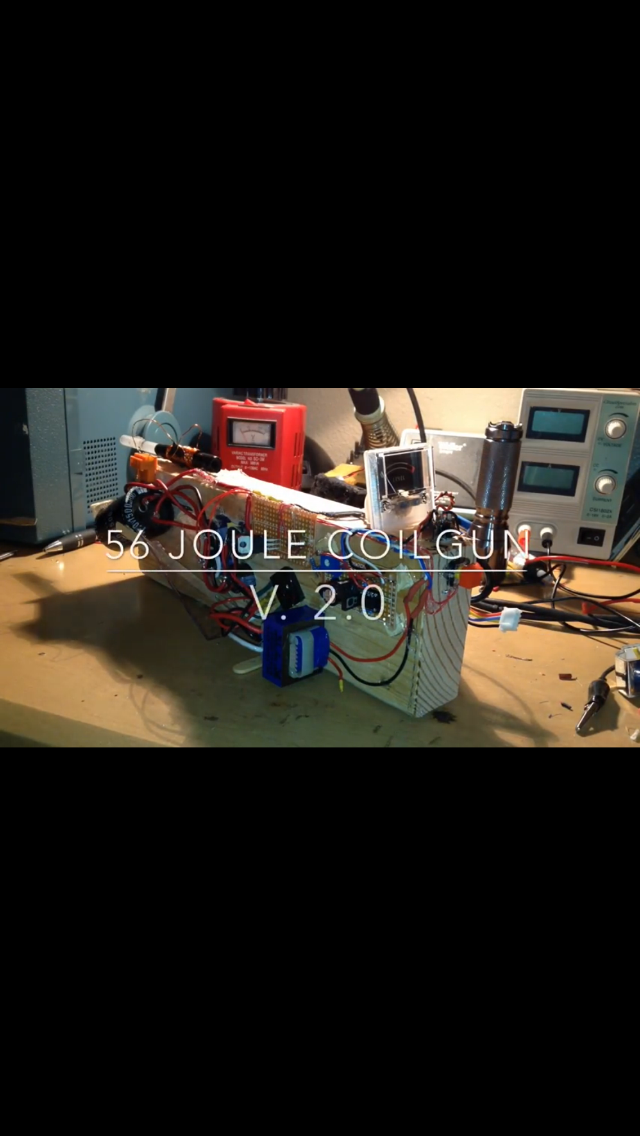 Picture of 56 Joule Coilgun From Salvaged Parts V2.0