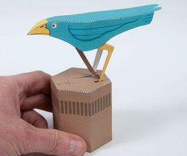 Paper Bird. Pendulum Powered Paper Project