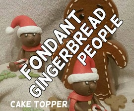 Fondant Gingerbread People - Cake Toppers