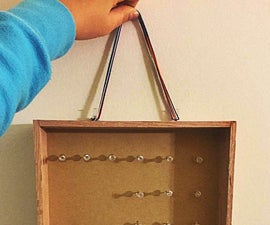 Easy DIY Jewelry Organizer Made from Scrap Wood