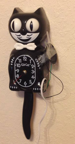 """Picture of Make a Digital """"meow"""" From Analog Clock"""