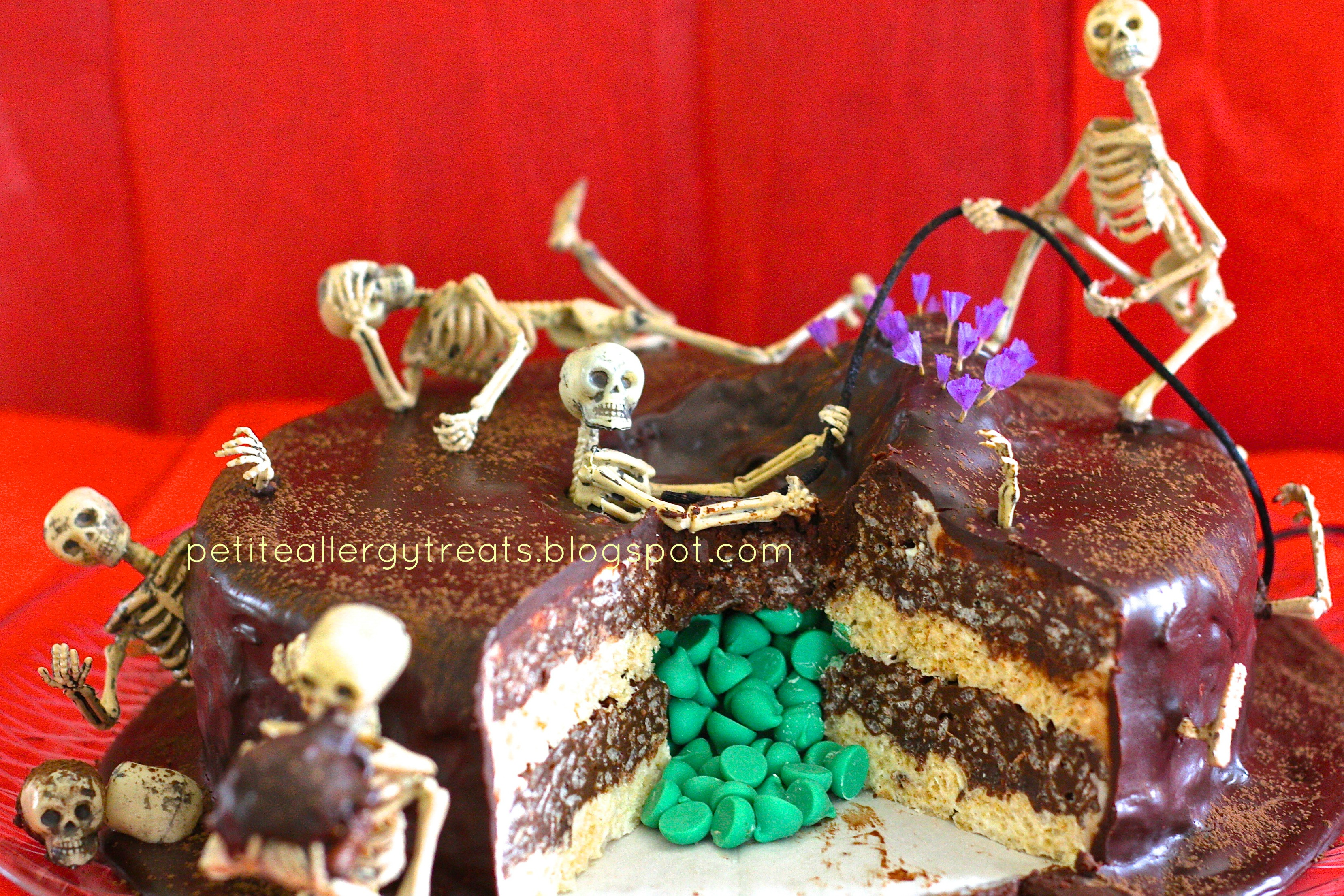 """Picture of """"Death by Chocolate"""" Skeleton Surprise Cake"""