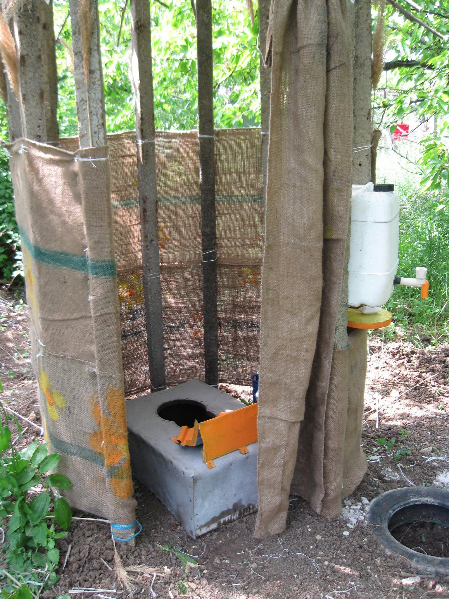 Picture of Composting Toilet in the Garden