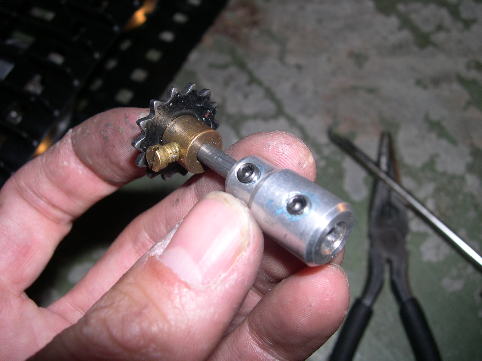 Picture of Attaching Shaft Adapters