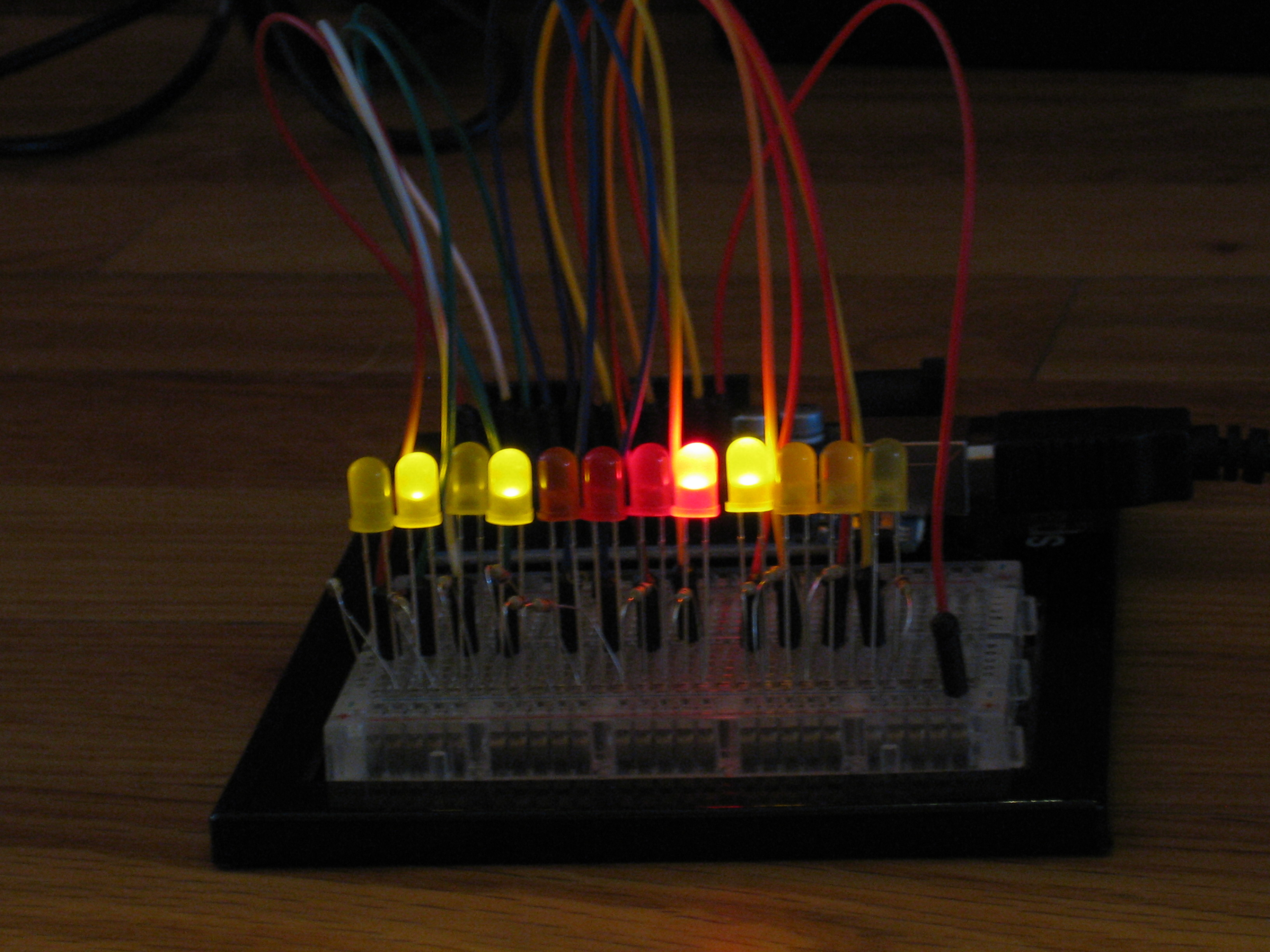 Picture of Binary Metric Clock; Easy Arduino Project.