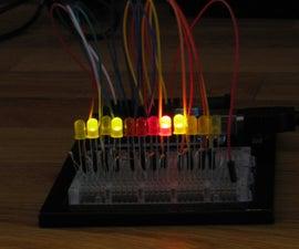 Binary metric clock; easy Arduino project.