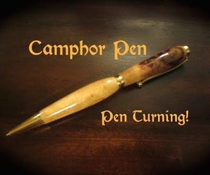 Turning a Camphor Pen