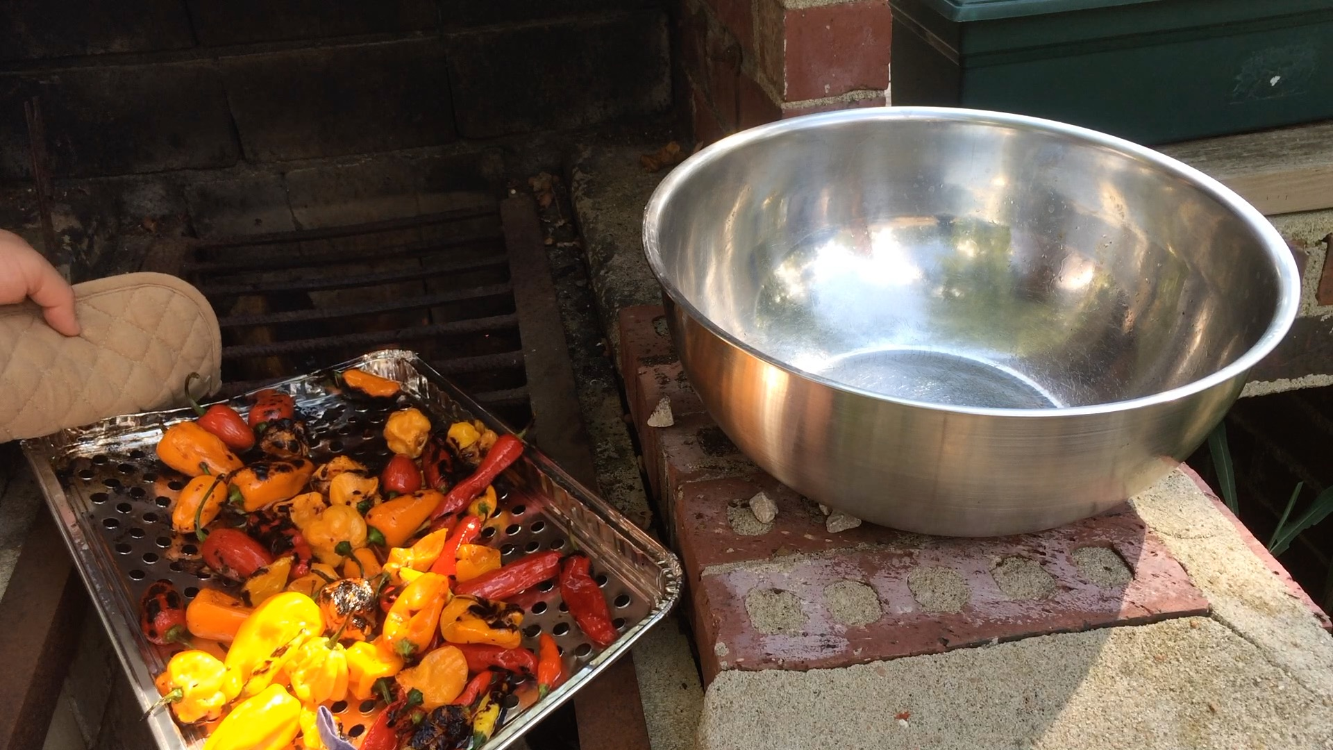 Picture of Grill the Peppers Outside Over an Open Flame