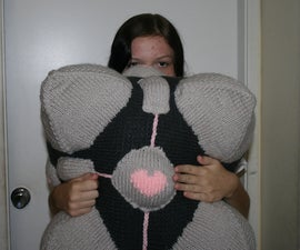 Knitted Companion Cube (from Portal)