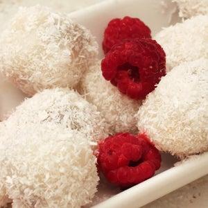 Rice Flour Balls With Chocolate