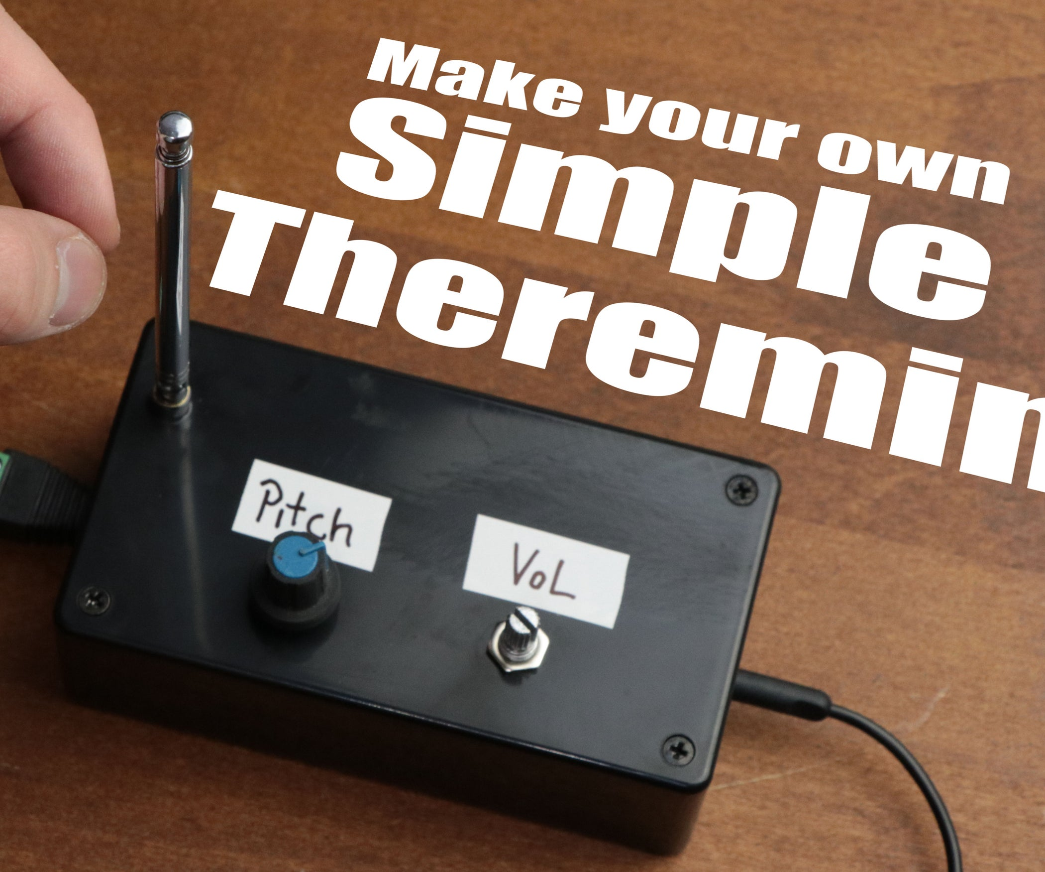Make Your Own Simple Theremin 4 Steps With Pictures Scott Tv Wiring Diagrams Get Free Image About Diagram