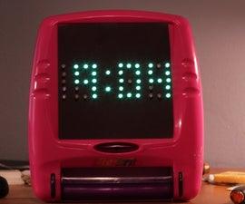 Lite Brite LED clock