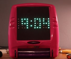 Lite Brite LED clock