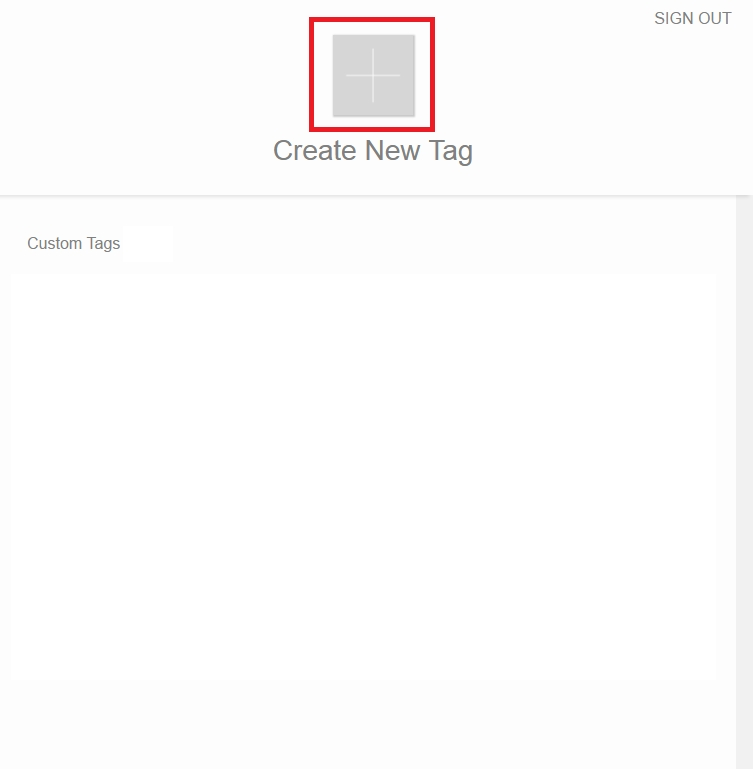 Picture of Create a New Tag for RICOH THETA in the MESH SDK