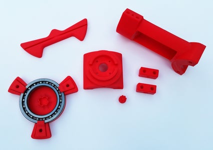 The Ciclop Plastic Component Parts (Lulzbot TAZ5 Printed Using HIPS)