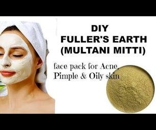 DIY Fuller's Earth (Multani Mitti) Face Pack for Acne ,Pimple & Oily Skin