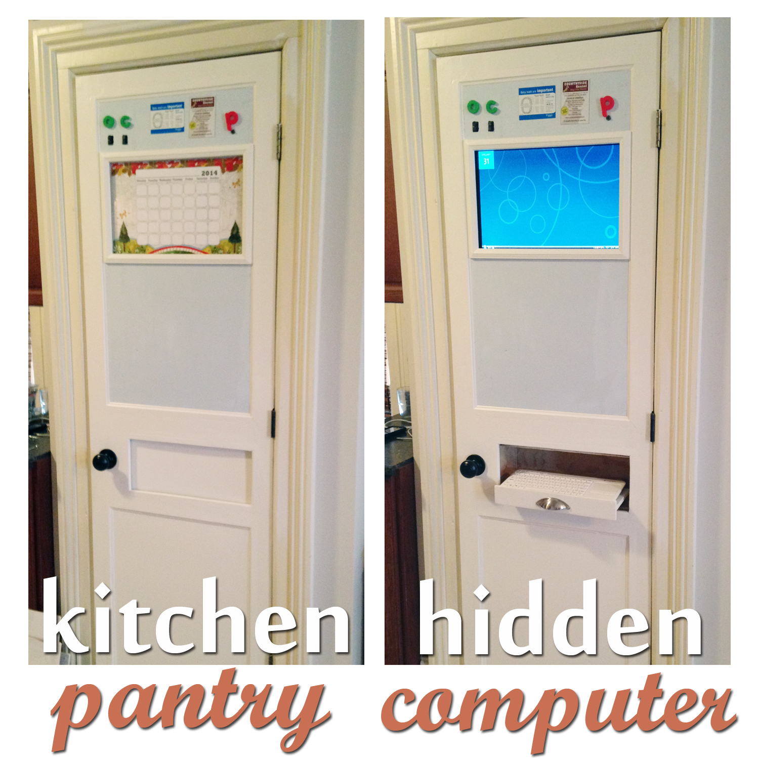 Picture of Kitchen Pantry Computer (Hidden)