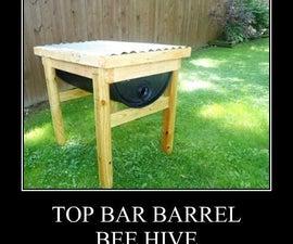 55 Gallon Top Bar Barrel Bee Hive