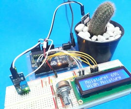 Alert System of Low Moisture Soil for Your Plant