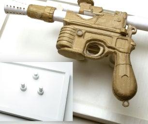 Han Solo Cardboard Blaster With Magnetic Display Board