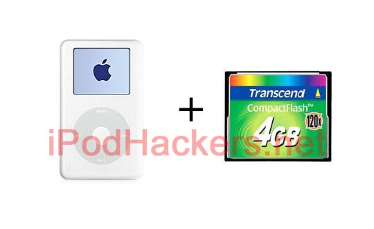 Picture of Convert Your 4th Gen IPod to Use Flash Memory
