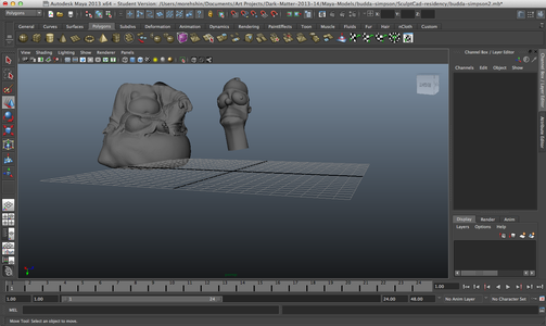 Step 3: Combining the Models + Cleaning Up Using Maya