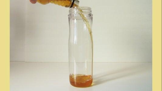 Pour Apple Cider Into Empty Jar