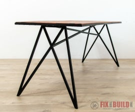 Modern Outdoor Table With Metal Base