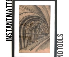 Free Instant Matte for Perfect Picture Frames - No Special Tools