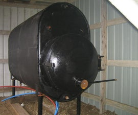 outdoor wood boiler from junk