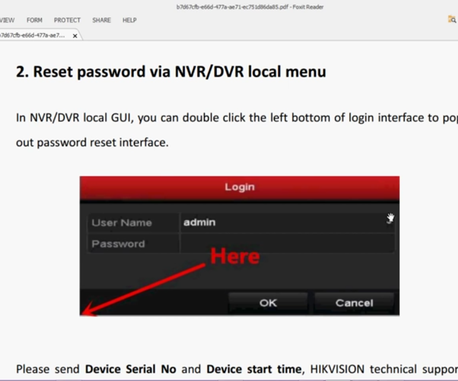 Hikvision Password Recovery