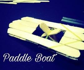 Popsicle Stick Paddle Boat
