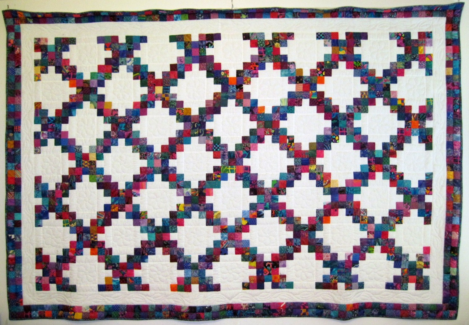 """Picture of """"Scrappy Double Irish Chain"""" Quilt"""