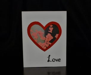Valentines Day Shaker Card