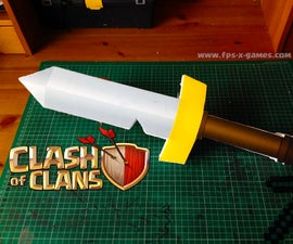Basic Printable Clash of Clans Barbarian Sword