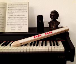 Simple Midi Flute/Recorder Controller (EWI)