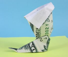 Money Origami Boot