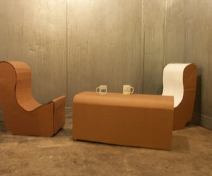 How to Make a Cardboard Coffee Table With Chairs
