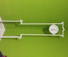 3d Silhouette Floor Clock