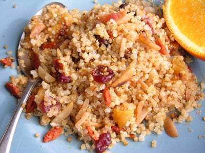 Quinoa With Toasted Almonds, Cranberries and Apricots