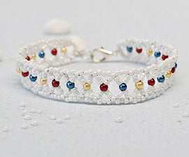 Pandahall Tutorial on How to Make Handmade Seed Beads Bracelet With Colorful Pearl Beads