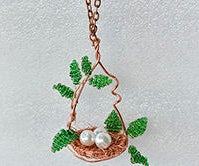 How to Make a Bird Nest Wire Wrapped Pendant Necklace at Home