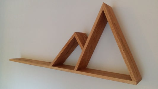Floating Shelf With Mountains