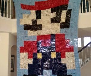 SUPER Super Mario Crochet Granny Sqaure Blanket