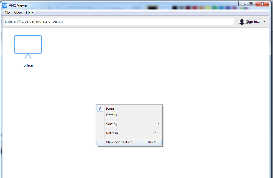 Picture of Access VNC Server on Windows PC