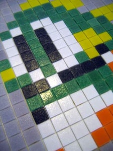 DIY Video Game Character Mosaic: Bubble Bobble (w/pics)