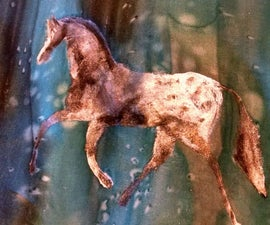 Silk Paint with a Stencil