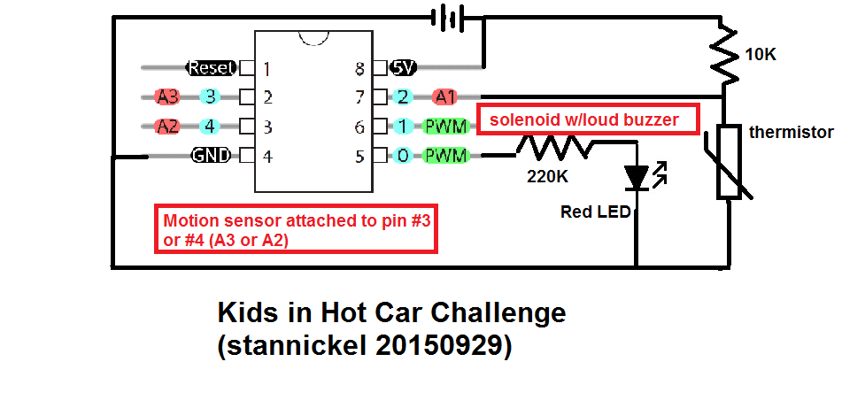Picture of Kids in Hot Car Challenge
